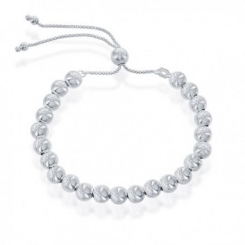 Sterling Silver Italian Adjustable Bracelet