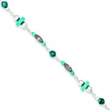 Sterling Silver Turquoise Anklet Bracelet - C8115736DPN
