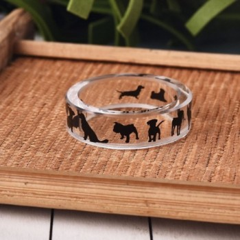 Rinhoo Handmade Pressed Transparent Scenery in Women's Band Rings