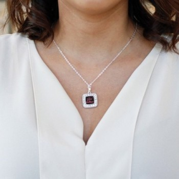 Godmother Classic Silver Crystal Necklace in Women's Chain Necklaces