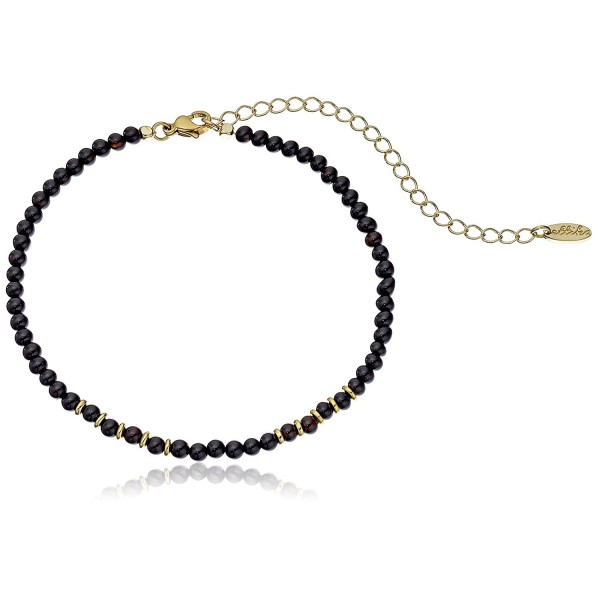 "Ettika Still Surprise You Onyx and Gold Choker Necklace- 10.5"" + 4"" Extender - CS12DAVNRCT"