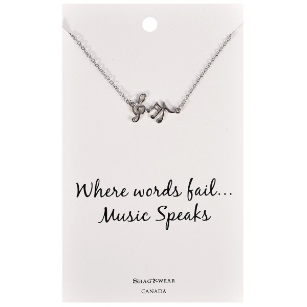 Shagwear Dream and Music Inspirations Quote Pendant Necklace - Music Notes Pendant - C712DP8SJEJ