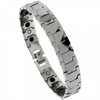 Tungsten Carbide Bracelet Magnetic Therapy Freeform Facets- 1/2 inch wide- - C7115K1CNLF