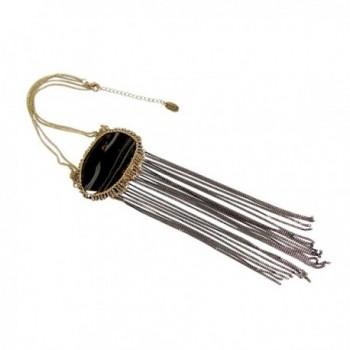 Agate Two Tone Antique Chain Fringe
