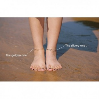 Fettero Dainty Anklet Handmade Double in Women's Anklets
