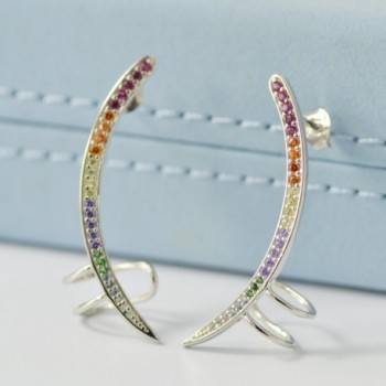 Rainbow Unicorn Hypoallergenic Sterling Earrings in Women's Cuffs & Wraps Earrings
