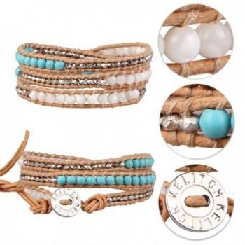 KELITCH Turquoise Bracelet Handmade Jewelry in Women's Wrap Bracelets