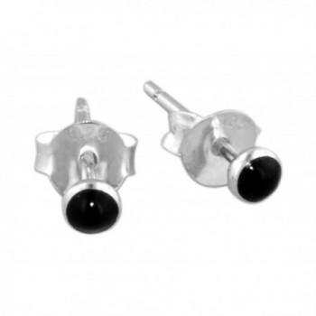 Sterling Silver Simulated Black Earrings