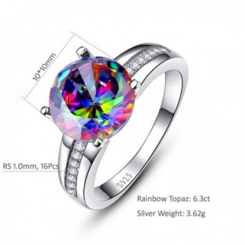 Nuncad Solitaire Sterling Engagement Rainbow