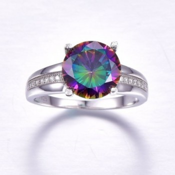 Nuncad Solitaire Sterling Engagement Rainbow in Women's Wedding & Engagement Rings