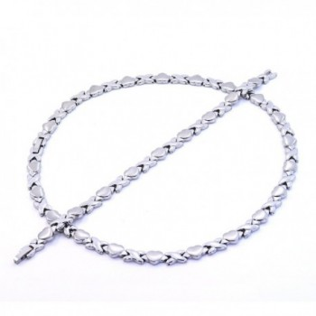 Silver Stainless Stampato Necklace Bracelet