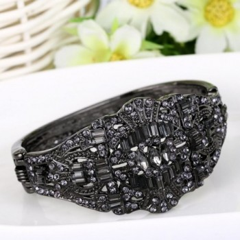 EVER FAITH Black Tone Austrian Inspired in Women's Bangle Bracelets