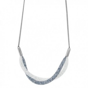 Swarovski StardustShort Twist Necklace Silver - CS12DA4OAVR