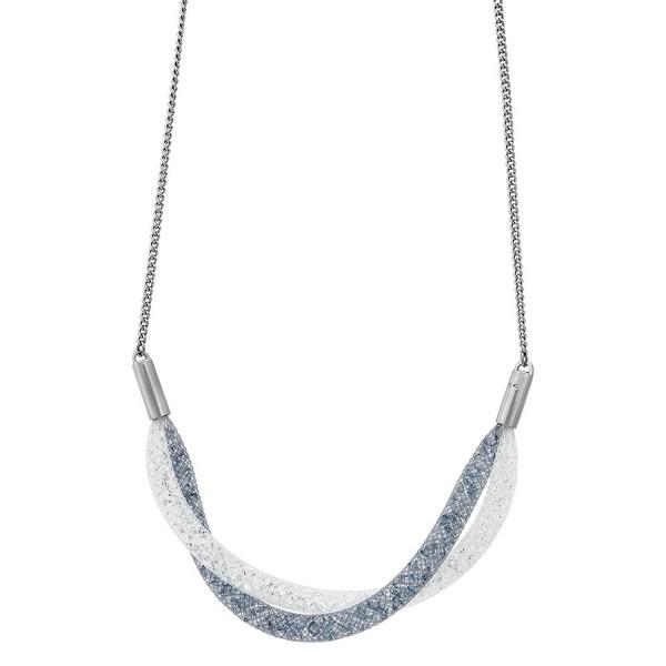 Swarovski StardustShort Twist Necklace Silver - CS12DA4OAVR
