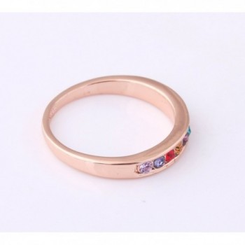 Acefeel Simplicity Multicolor Drilling Girlfriend in Women's Band Rings