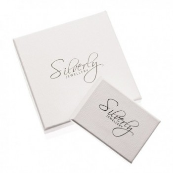 Silverly Womens Sterling Silver Earrings