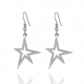Earrings Stylish Shining Rhinestone Anti allergy - Silver Plated Shining Star - CC188L0YSOW