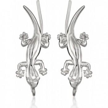 The Ear Pin Sterling Silver Good Luck Geckos Earrings - CH118W1703L
