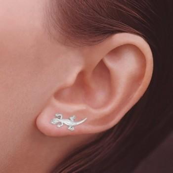 Ear Pin Sterling Silver Earrings