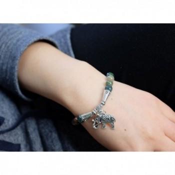 Falari Elephant Natural Bracelet B2448 IA in Women's Stretch Bracelets