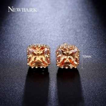 NEWBARK Gold Plated Pincess Zircon Earrings