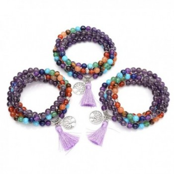 Natural Gemstone Buddhist Bracelet Necklace in Women's Strand Bracelets