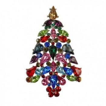 "Bejeweled Christmas ""Color Explosion"" Rhinestone Tree Pin 116 - CU11RKEXUUD"