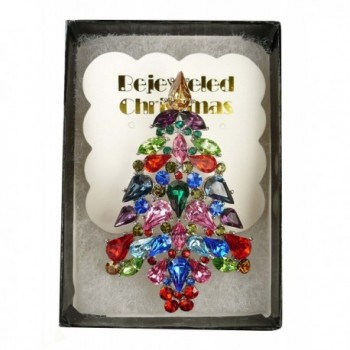 Bejeweled Christmas Explosion Rhinestone 116 in Women's Brooches & Pins