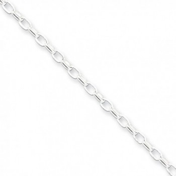 2.5mm- Sterling Silver Oval Solid Rolo Chain Necklace- 20 Inch - CZ1152RBBXX