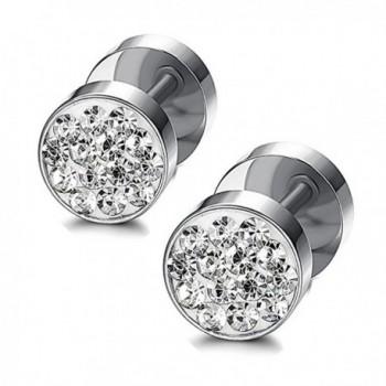 Stainless Zirconia Earrings Piercing Tunnel in Women's Stud Earrings