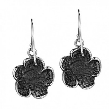 Blooming Sterling Silver Dangle Earrings in Women's Drop & Dangle Earrings