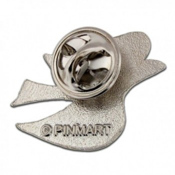 PinMarts Elegant Silver Plated Peace in Women's Brooches & Pins