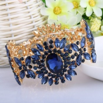 EVER FAITH Austrian Bracelet Gold Tone in Women's Stretch Bracelets