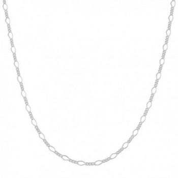 Sterling Silver 2.1mm High Polish Figaro Chain (16- 18- 20- 22- 24- 30- or 36 inch) - CN11RTMSGK5
