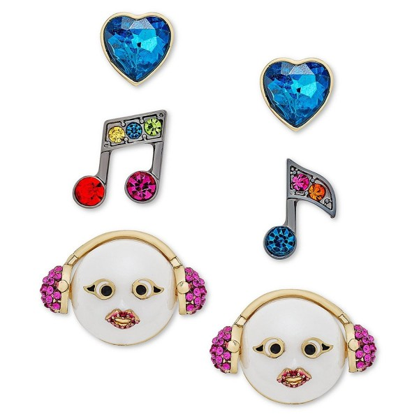 Betsey Johnson xox Trolls Stud Earrings Set- Multicolor (Set of 3) - CA17YEUMISN