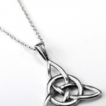 Sterling Triangle Vintage Pendant Necklaces in Women's Pendants