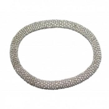 Crochet Glass Seed Bead Bracelet Roll on Bracelet Nepal Bracelet - C2127Y51DQF