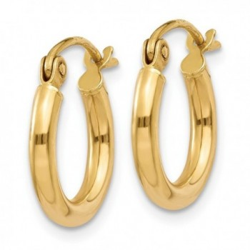 Gold Polished Round Hoop Earrings