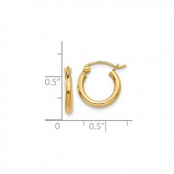 Gold Polished Round Hoop Earrings in Women's Hoop Earrings
