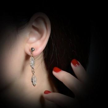 Mytys Plated Crystal Dangle Earrings