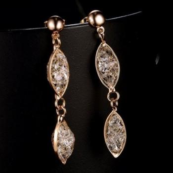 Mytys Plated Crystal Dangle Earrings in Women's Drop & Dangle Earrings