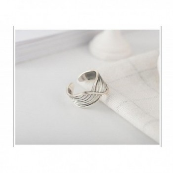 Twisted Vintage Sterling Adjustable Stackable in Women's Stacking Rings
