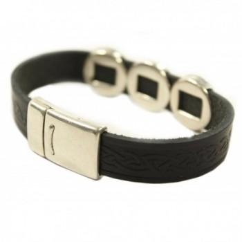 Leather Bracelet Celtic Charms Ireland in Women's Cuff Bracelets