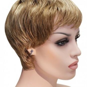 Sterling Silver Sapphire Tone Flower Earrings