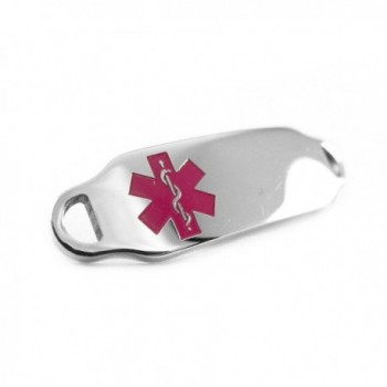 MyIDDr - Medical Alert Identification Tag- Can be Attached to an ID Bracelet- Purple Symbol - C3116JA23QP