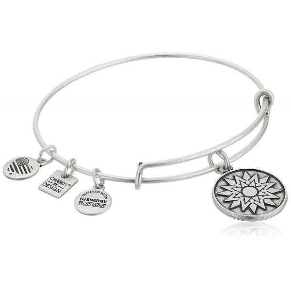 Alex and Ani Charity By Design New Beginnings Bangle Bracelet - Rafaelian Silver - CI11LFLG9CN