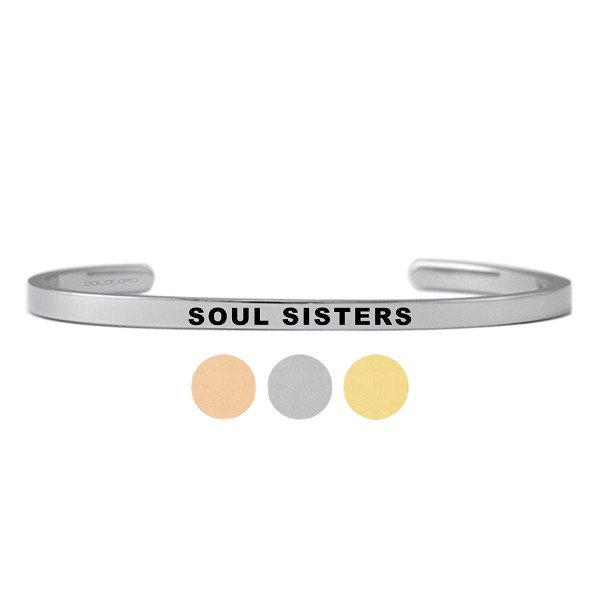 Mantra Phrase: SOUL SISTERS - Further Design & Customize your Dolceoro Cuff Bracelet - CK18535UCEW
