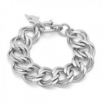 "7 1/4"" Amazing Design Stainless Steel Bracelet with Toggle Lock - C911KMVP4KZ"