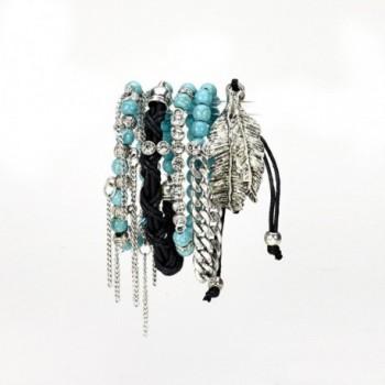 Aris Bohemian Turquoise Stretch Bracelets