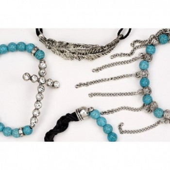 Aris Bohemian Turquoise Stretch Bracelets in Women's Stretch Bracelets
